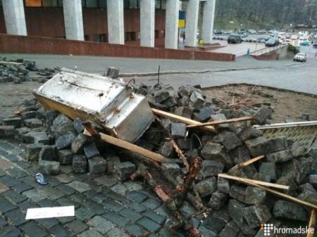 Как выглядит центр Киева после «побега» Саакашвили