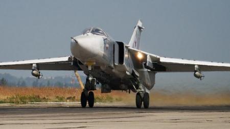 В Сирии на взлете разбился российский Су-24, экипаж погиб