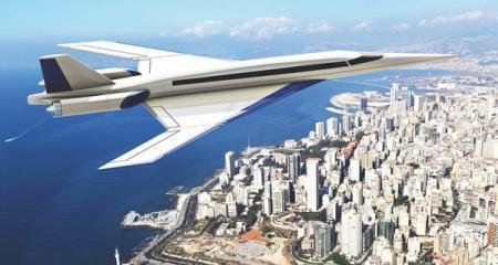 Сверхзвуковой пассажирский самолет испытали в воздухе