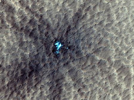 На Марсе нашли залежи водяного льда