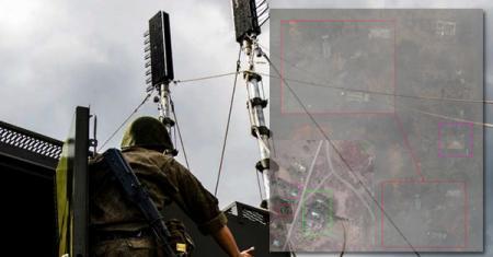 На Донбассе заметили российскую станцию помех Р-330Ж