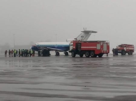 В аэропорту Жуляны самолет протаранил генератор