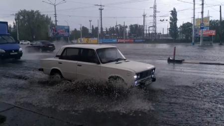 Ливень с градом: Кременчуг затопило за считанные минуты