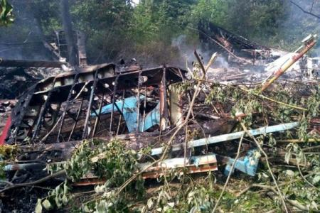 В Украине самолет Ан-2 сгорел после аварийной посадки