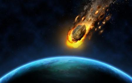 Падение метеорита на Землю попало видео: огненный шар в ночном небе
