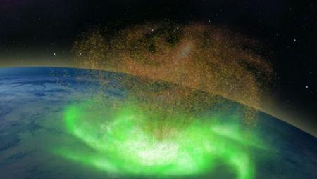 Впервые над Северным полюсом обнаружен космический ураган