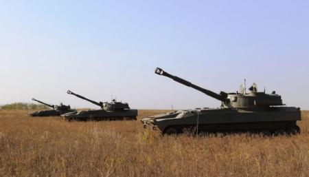 Артиллерия Десантно-штурмовых войск на Азове тренировалась уничтожать катера