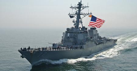 Ракетный эсминец США вошел в Балтийское море