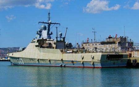 Ракетный корабль России заметили возле украинского побережья