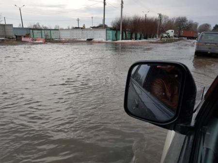 Дорогу под Киевом затопило на 1,5 метра