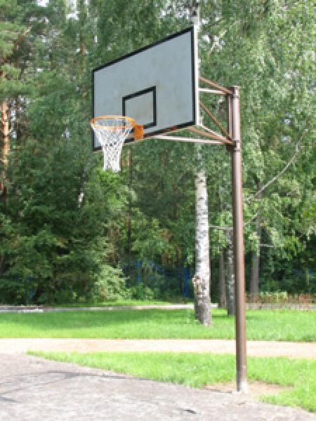 Баскетбольное кольцо на даче